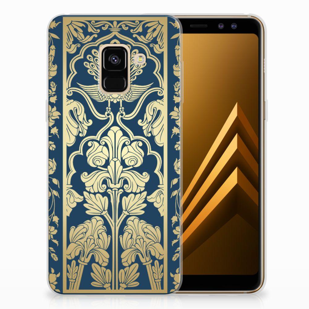 Samsung Galaxy A8 (2018) TPU Hoesje Golden Flowers