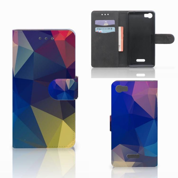 Wiko Fever (4G) Bookcase Polygon Dark