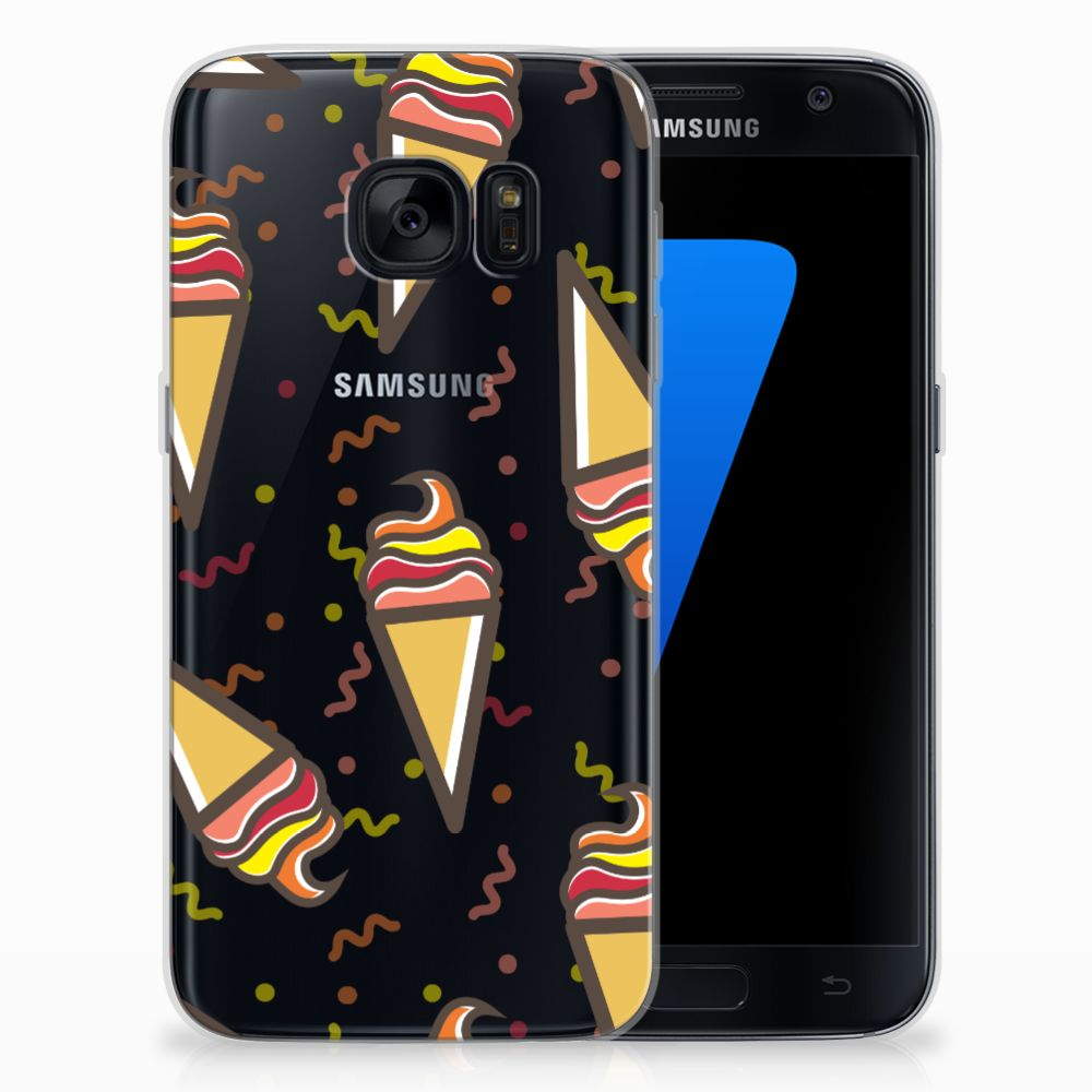 Samsung Galaxy S7 Siliconen Case Icecream