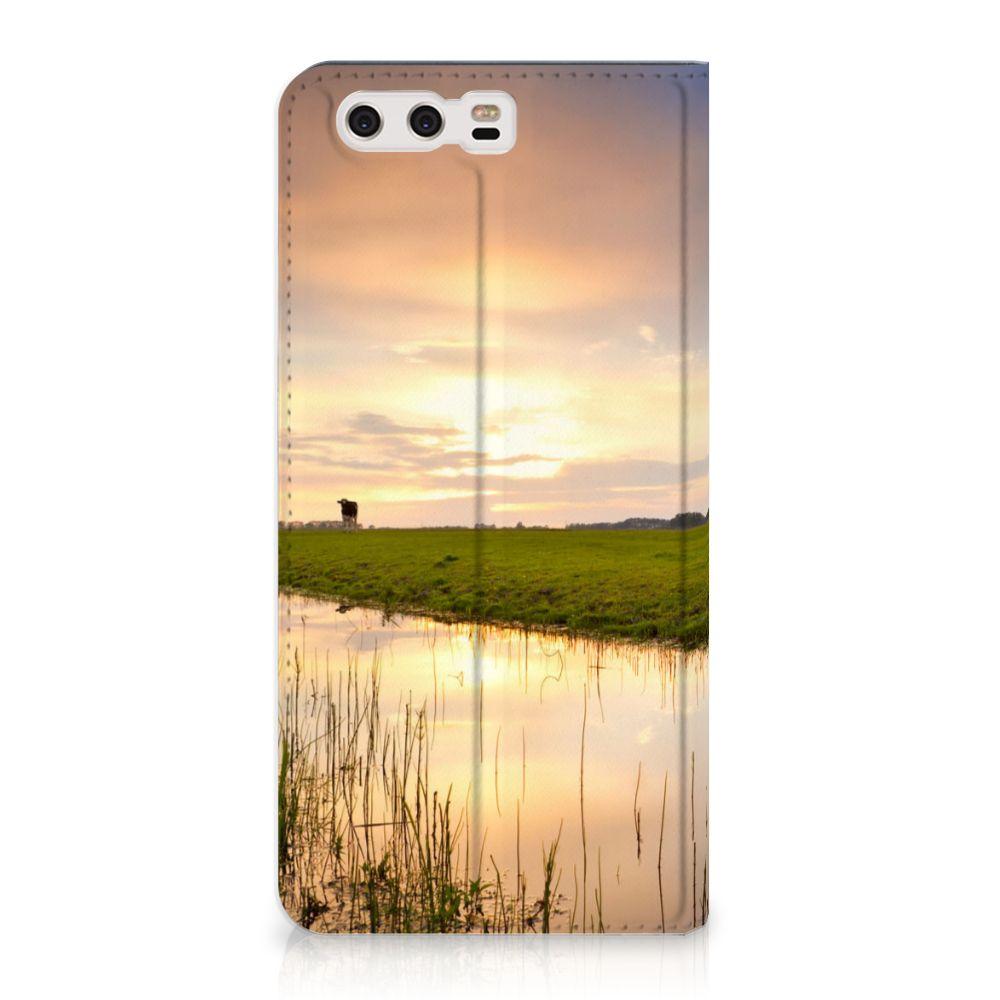 Huawei P10 Plus Standcase Hoesje Design Koe