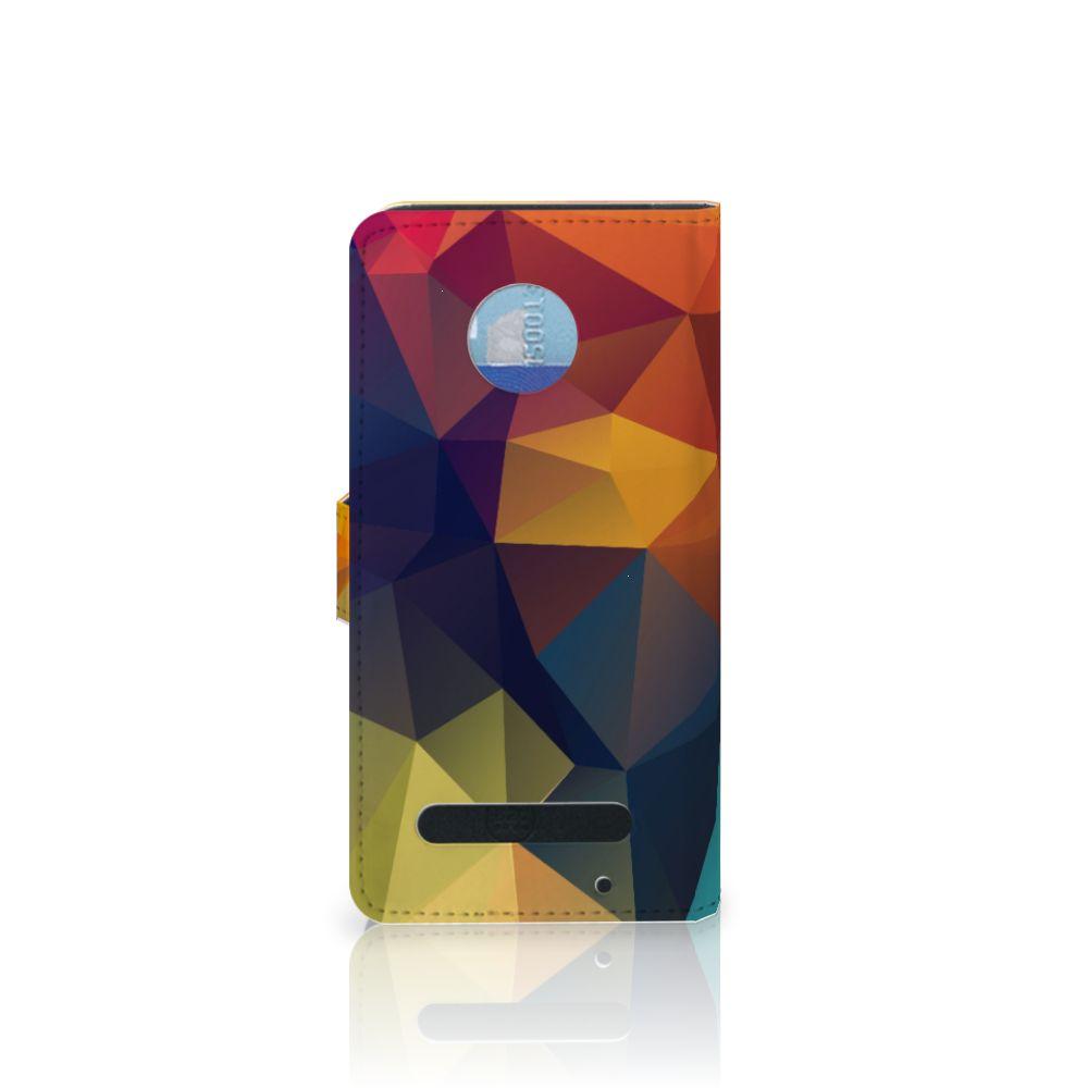 Motorola Moto Z2 Play Bookcase Polygon Color
