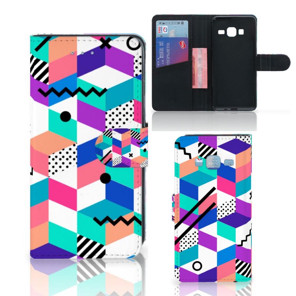 Samsung Galaxy J3 2016 Bookcase Blokken Kleurrijk