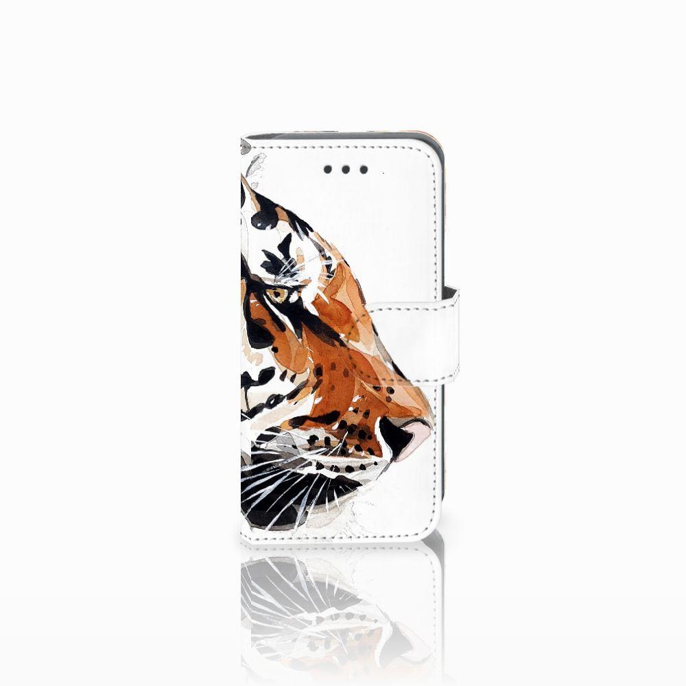 Apple iPod Touch 5   6 Uniek Boekhoesje Watercolor Tiger
