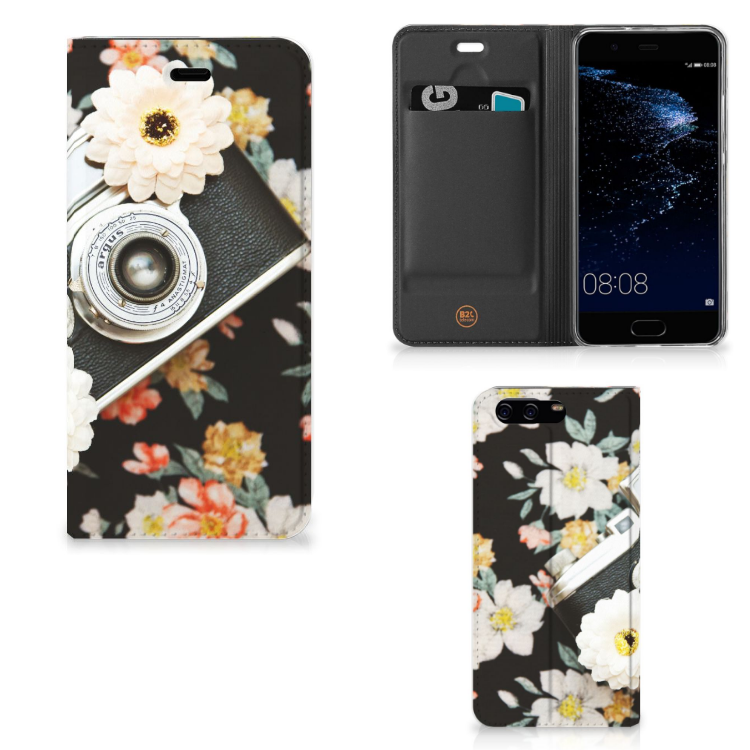 Huawei P10 Stand Case Vintage Camera