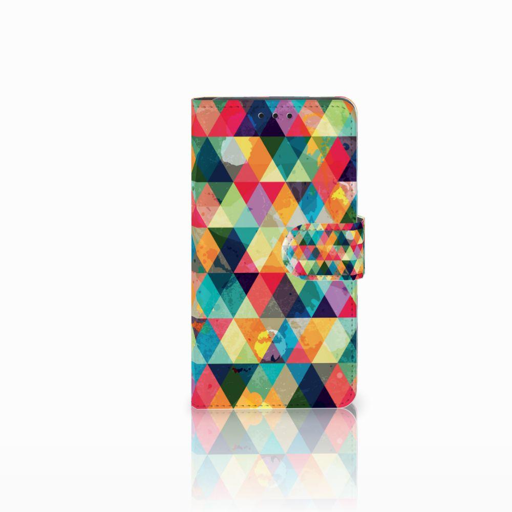Huawei Y6 Pro 2017 Uniek Boekhoesje Geruit