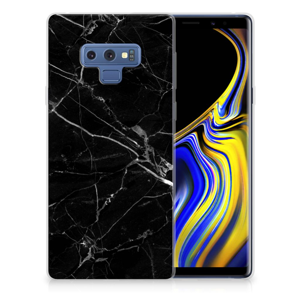 Samsung Galaxy Note 9 TPU Siliconen Hoesje Marmer Zwart