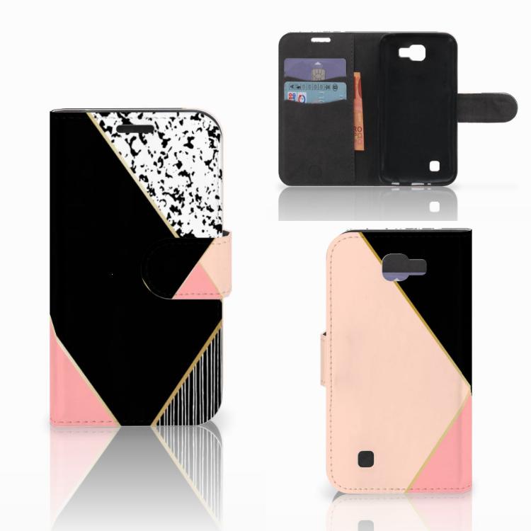 LG K4 Bookcase Zwart Roze Vormen