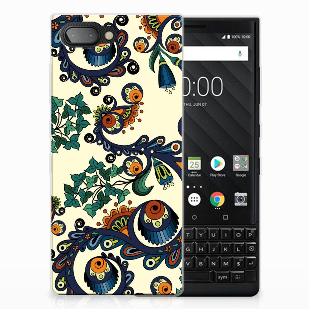 Siliconen Hoesje BlackBerry Key2 Barok Flower