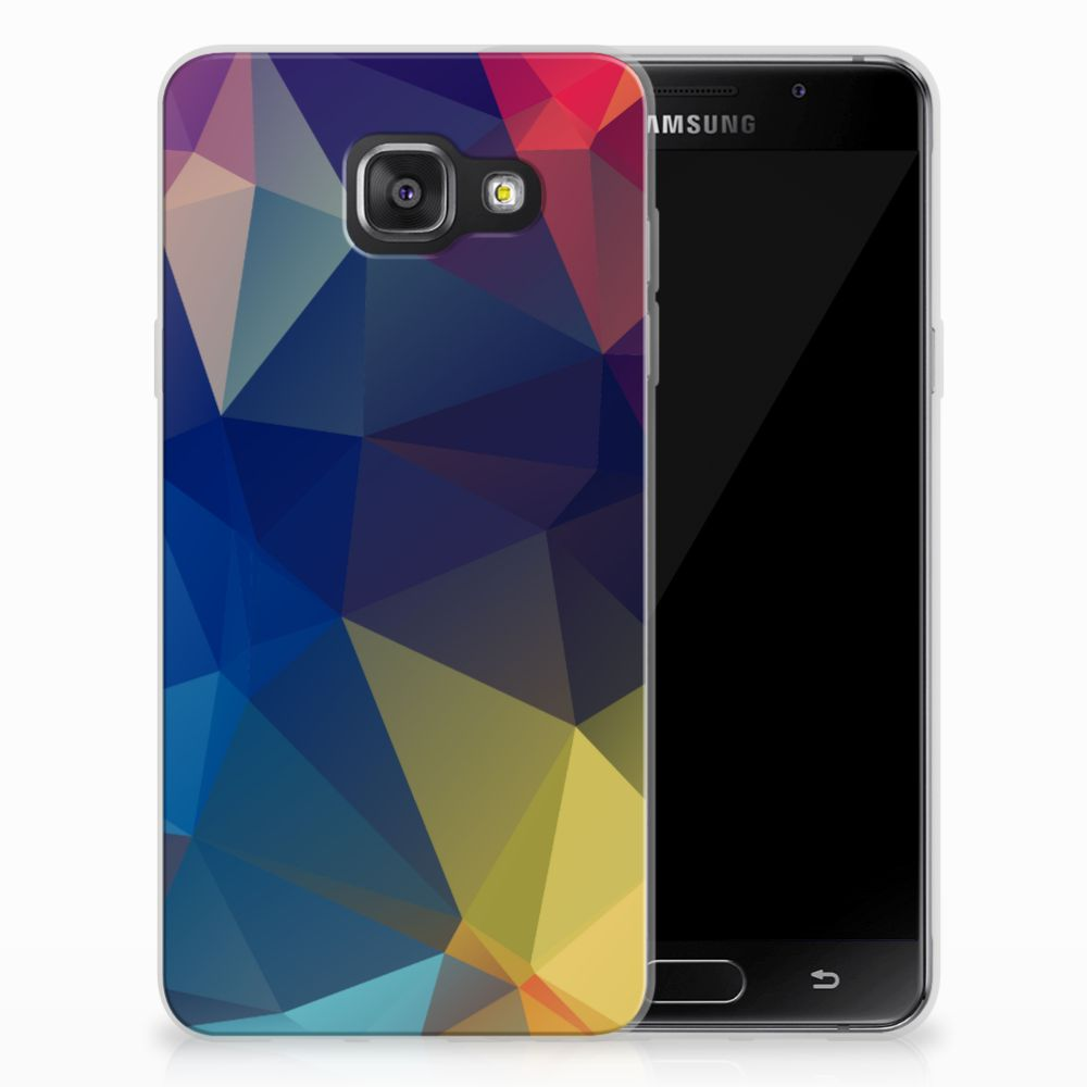 Samsung Galaxy A3 2016 Uniek TPU Hoesje Polygon Dark