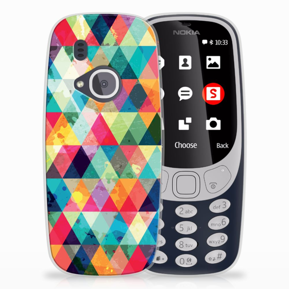 Nokia 3310 (2017) TPU bumper Geruit