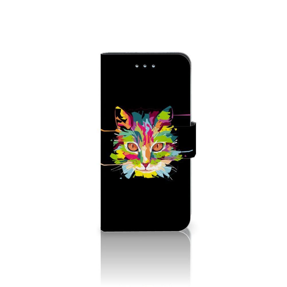 Samsung Galaxy S6   S6 Duos Uniek Boekhoesje Cat Color