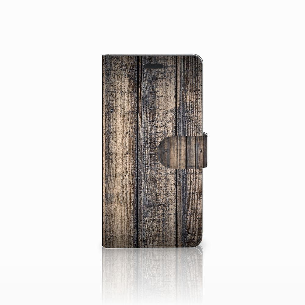 Samsung Galaxy A7 2015 Boekhoesje Design Steigerhout
