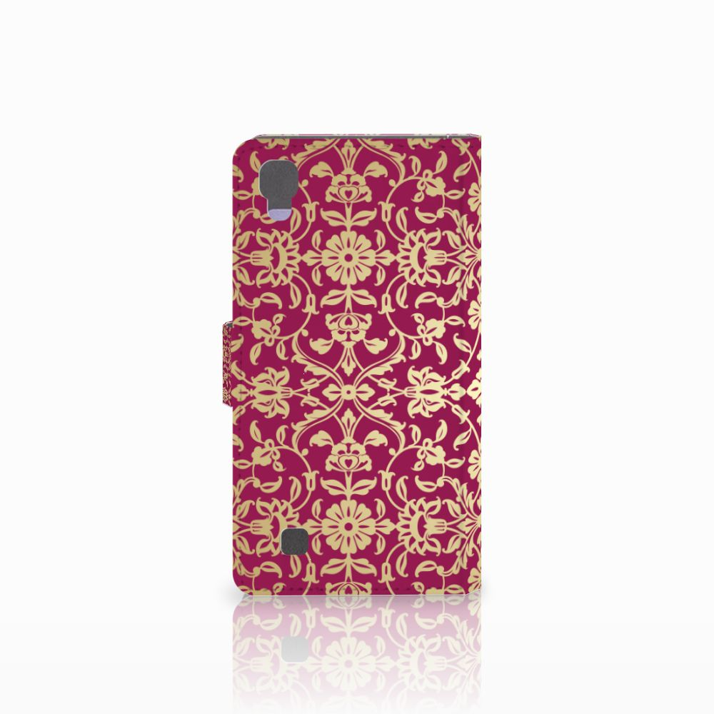 Wallet Case LG X Power Barok Pink