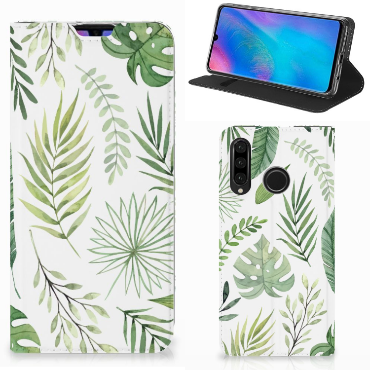 Huawei P30 Lite Smart Cover Leaves