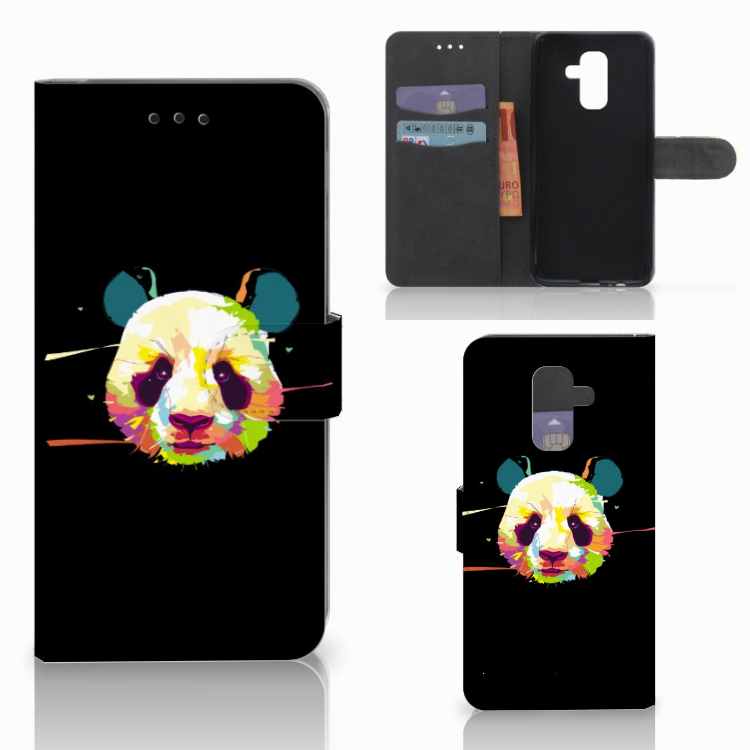Samsung Galaxy A6 Plus 2018 Leuke Hoesje Panda Color