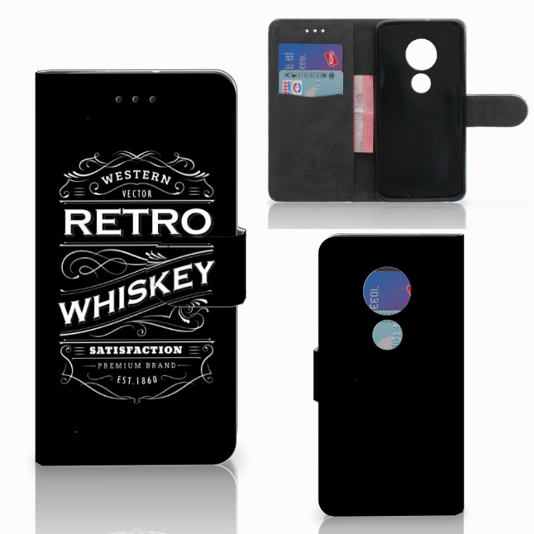 Motorola Moto G7 Play Book Cover Whiskey
