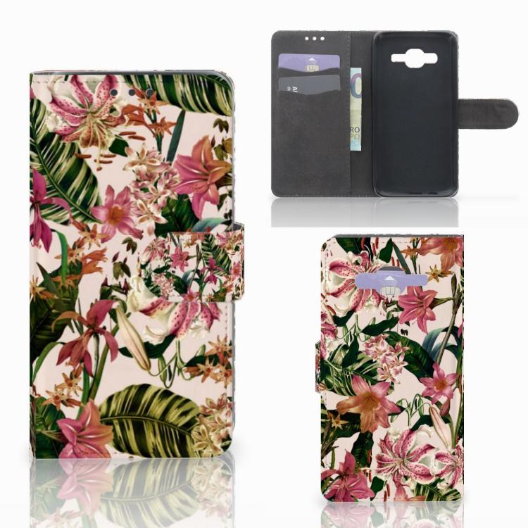 Samsung Galaxy J5 (2015) Hoesje Flowers