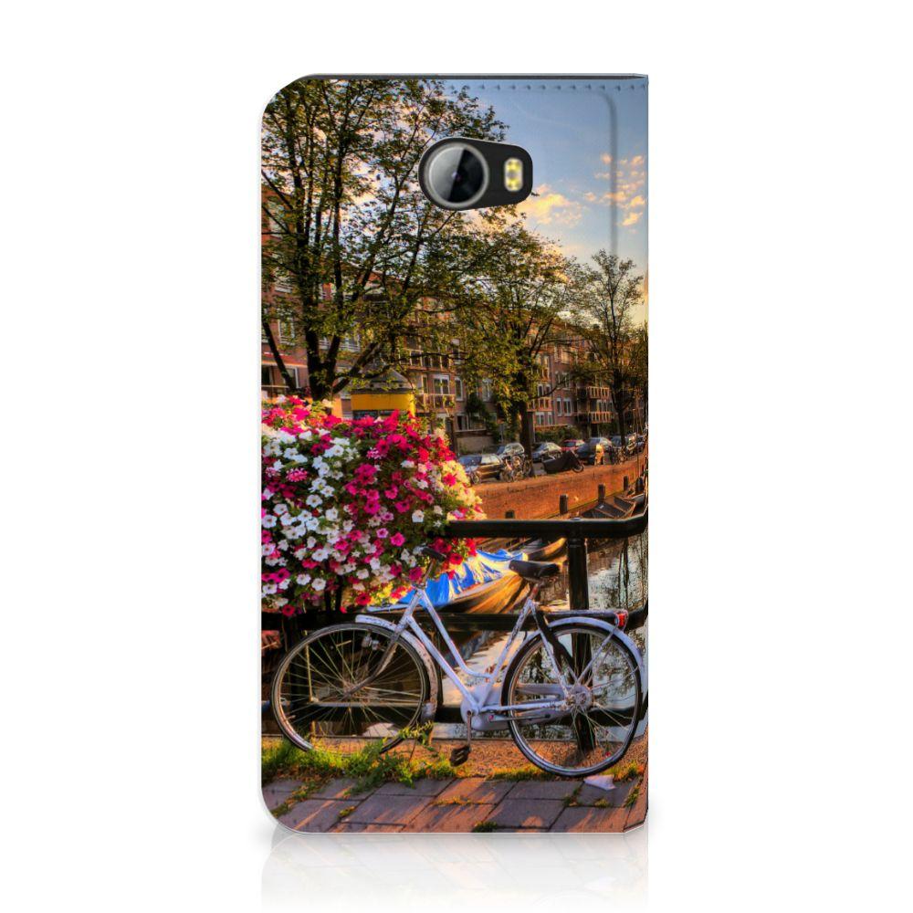 Huawei Y5 2 | Y6 Compact Uniek Standcase Hoesje Amsterdamse Grachten