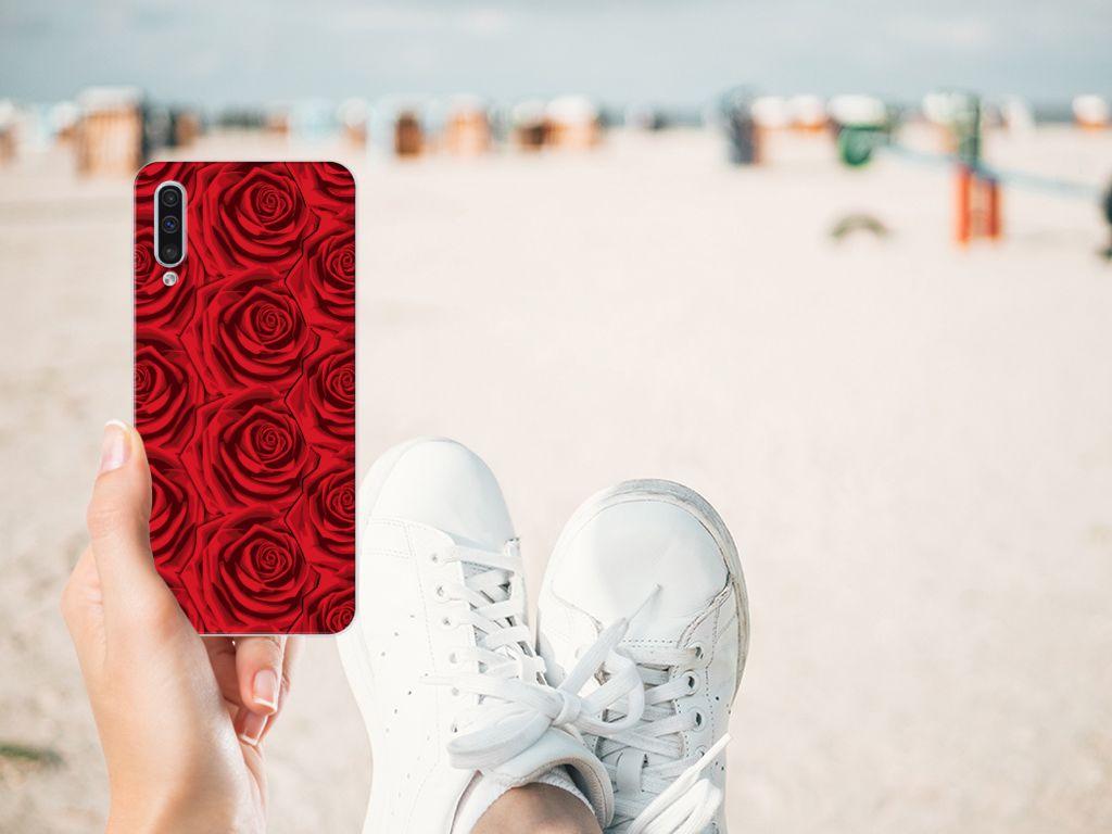 Samsung Galaxy A50 TPU Case Red Roses