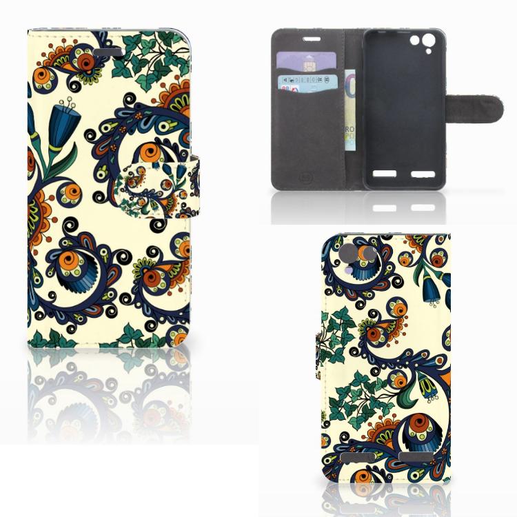 Wallet Case Lenovo Vibe K5 Barok Flower