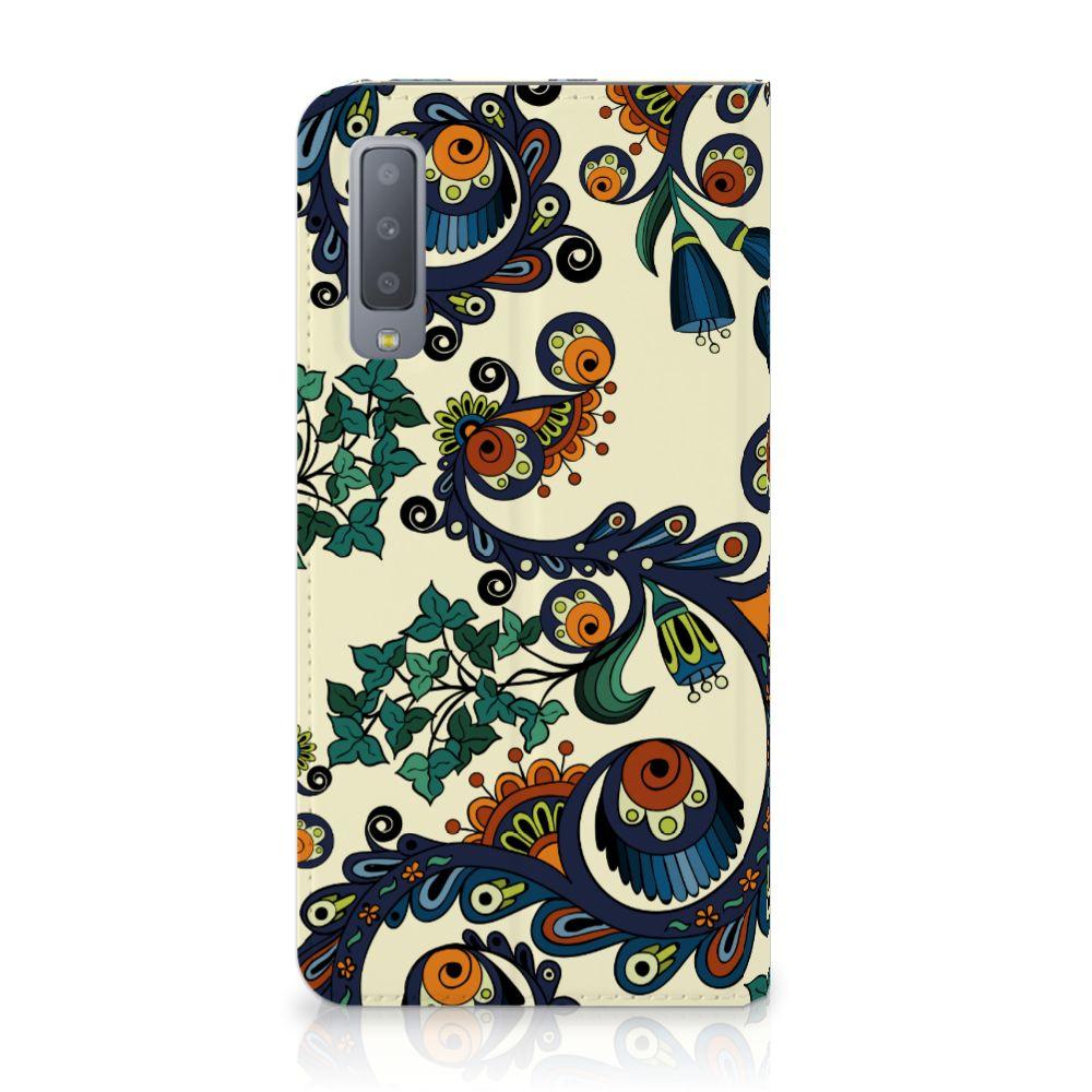 Samsung Galaxy A7 (2018) Standcase Hoesje Design Barok Flower