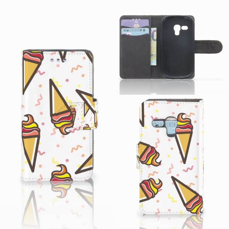 Samsung Galaxy S3 Mini Book Cover Icecream