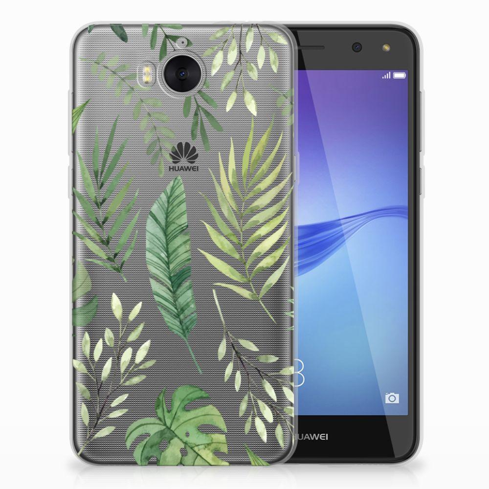 Huawei Y5 2017 | Y6 2017 Uniek TPU Hoesje Leaves