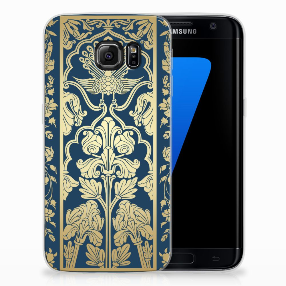 Samsung Galaxy S7 Edge TPU Case Golden Flowers