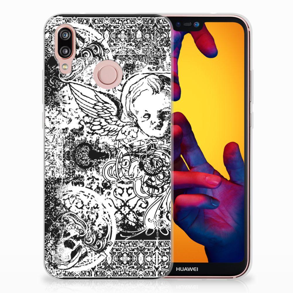 Huawei P20 Lite TPU Hoesje Design Skulls Angel