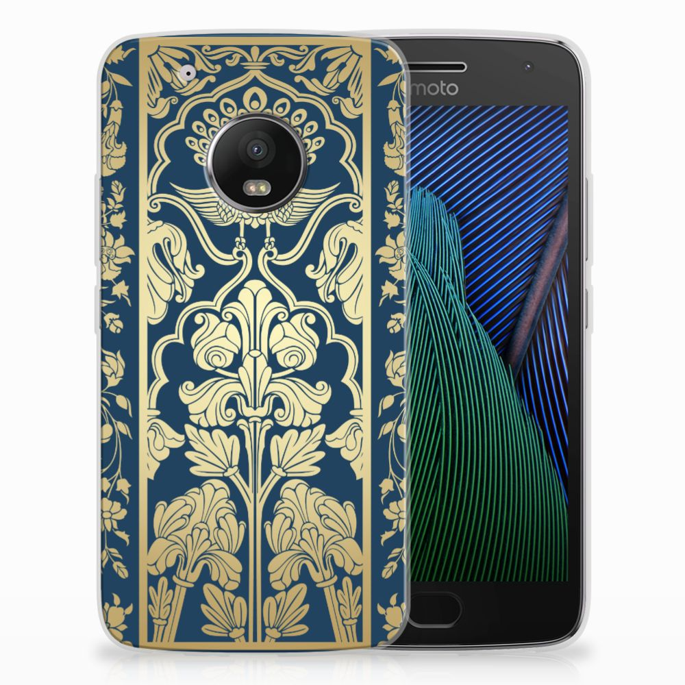 Motorola Moto G5 Plus TPU Hoesje Golden Flowers