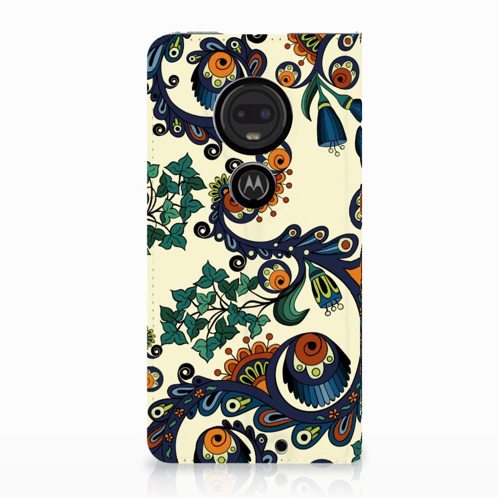 Motorola Moto G7 | G7 Plus Standcase Hoesje Design Barok Flower