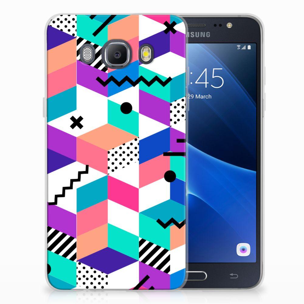 Samsung Galaxy J5 2016 TPU Hoesje Blokken Kleurrijk