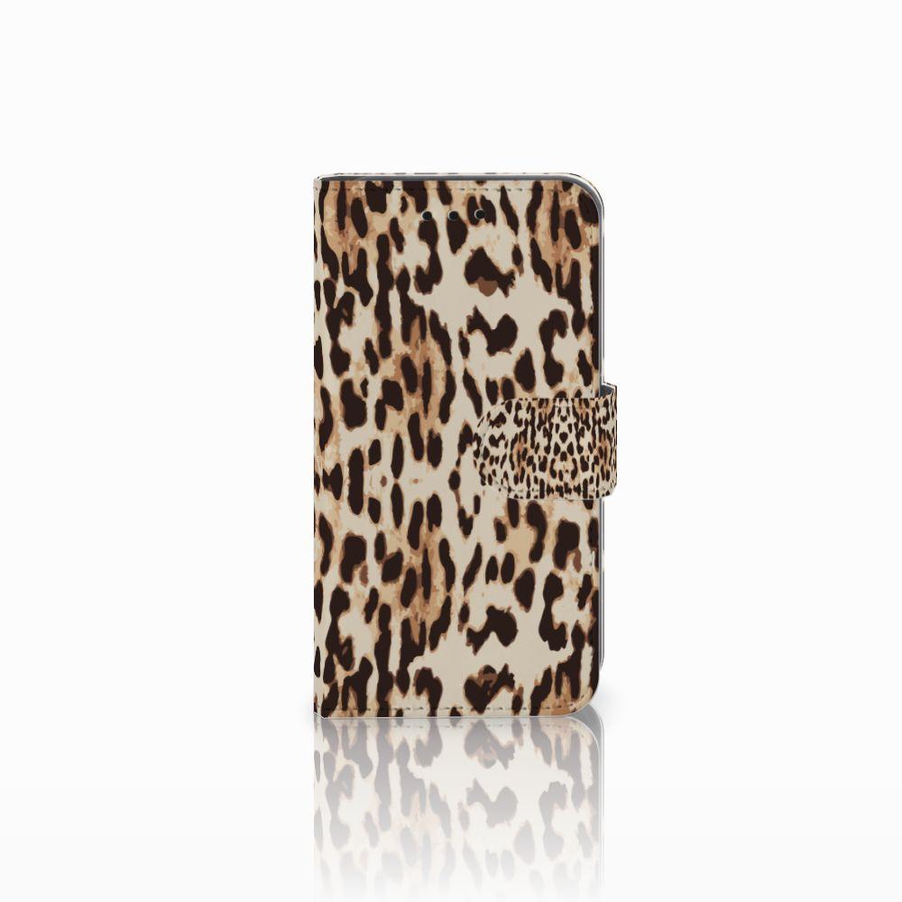 Microsoft Lumia 550 Uniek Boekhoesje Leopard