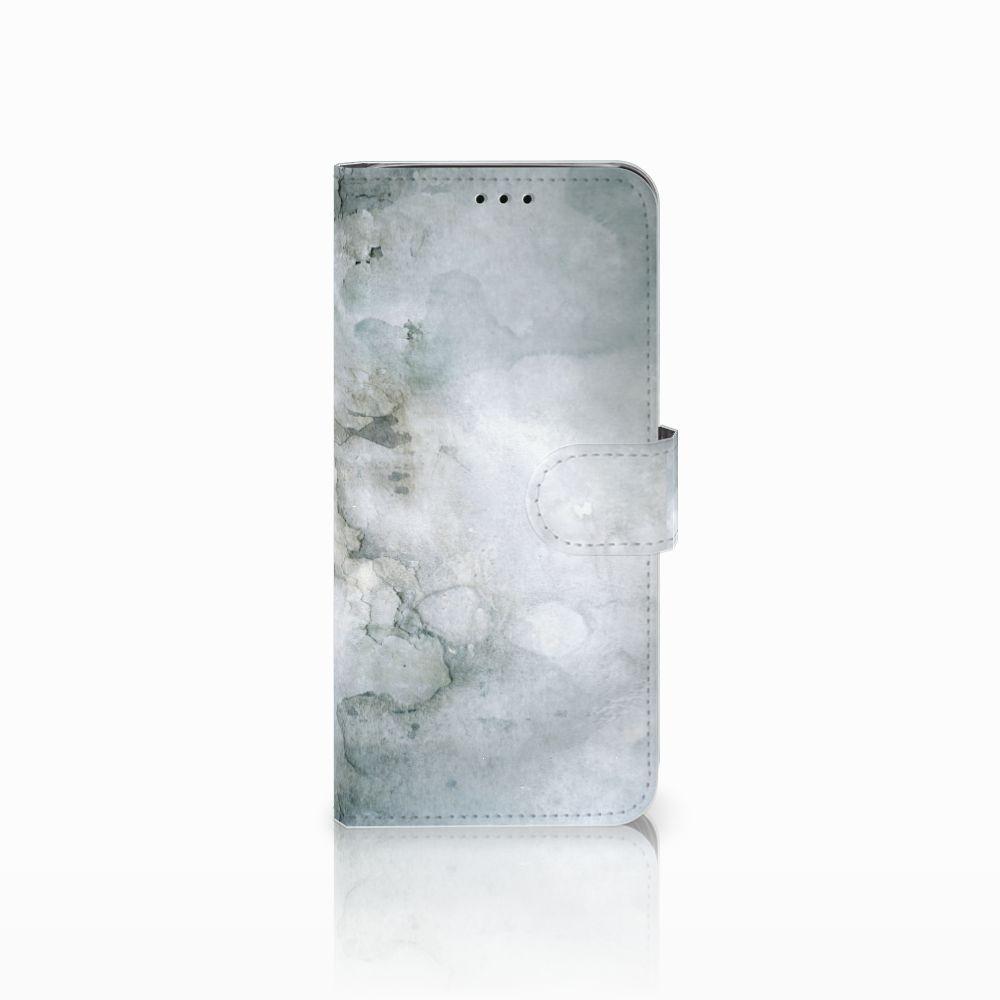 Samsung Galaxy J6 2018 Uniek Boekhoesje Painting Grey