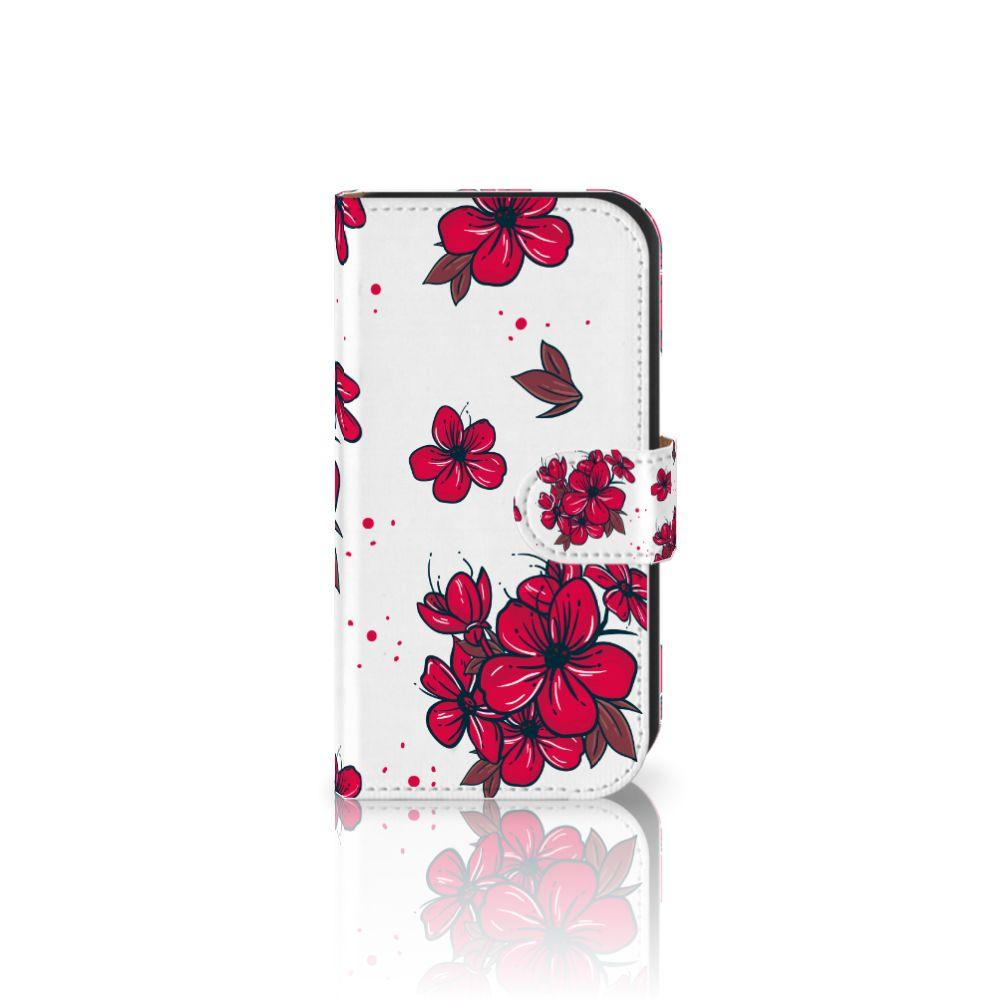 Samsung Galaxy Ace 4 4G (G357-FZ) Boekhoesje Design Blossom Red