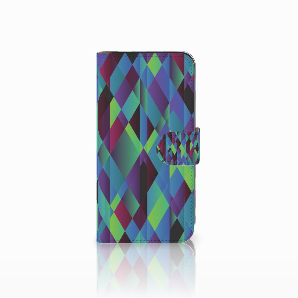 Samsung Galaxy E5 Bookcase Abstract Green Blue