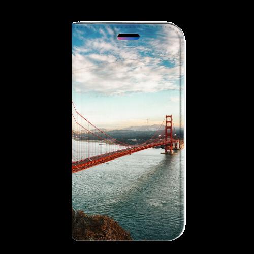 Apple iPhone X   Xs Standcase Hoesje Design Golden Gate Bridge