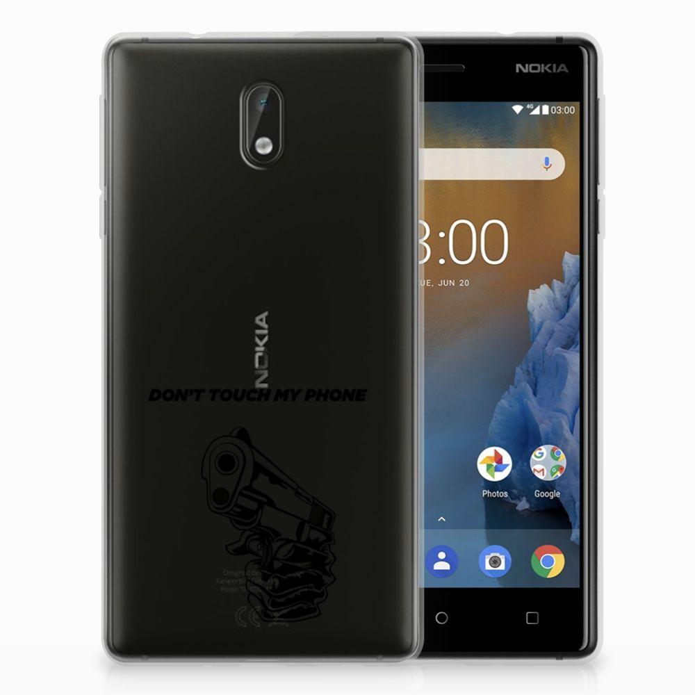 Nokia 3 Uniek TPU Hoesje Gun DTMP