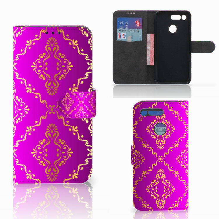 Wallet Case Honor View 20 Barok Roze