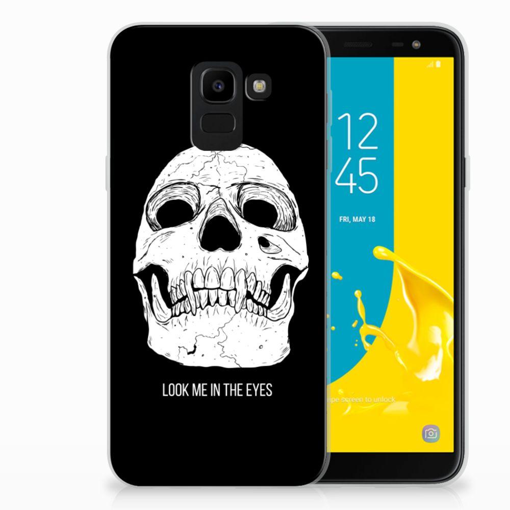 Samsung Galaxy J6 2018 Uniek TPU Hoesje Skull Eyes