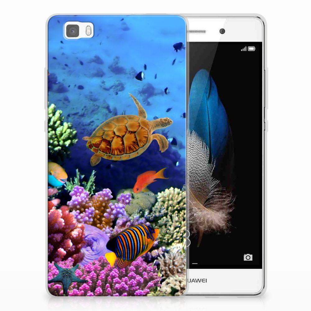 Huawei Ascend P8 Lite TPU Hoesje Vissen