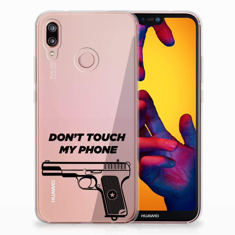 Huawei P20 Lite Uniek TPU Hoesje Pistol DTMP
