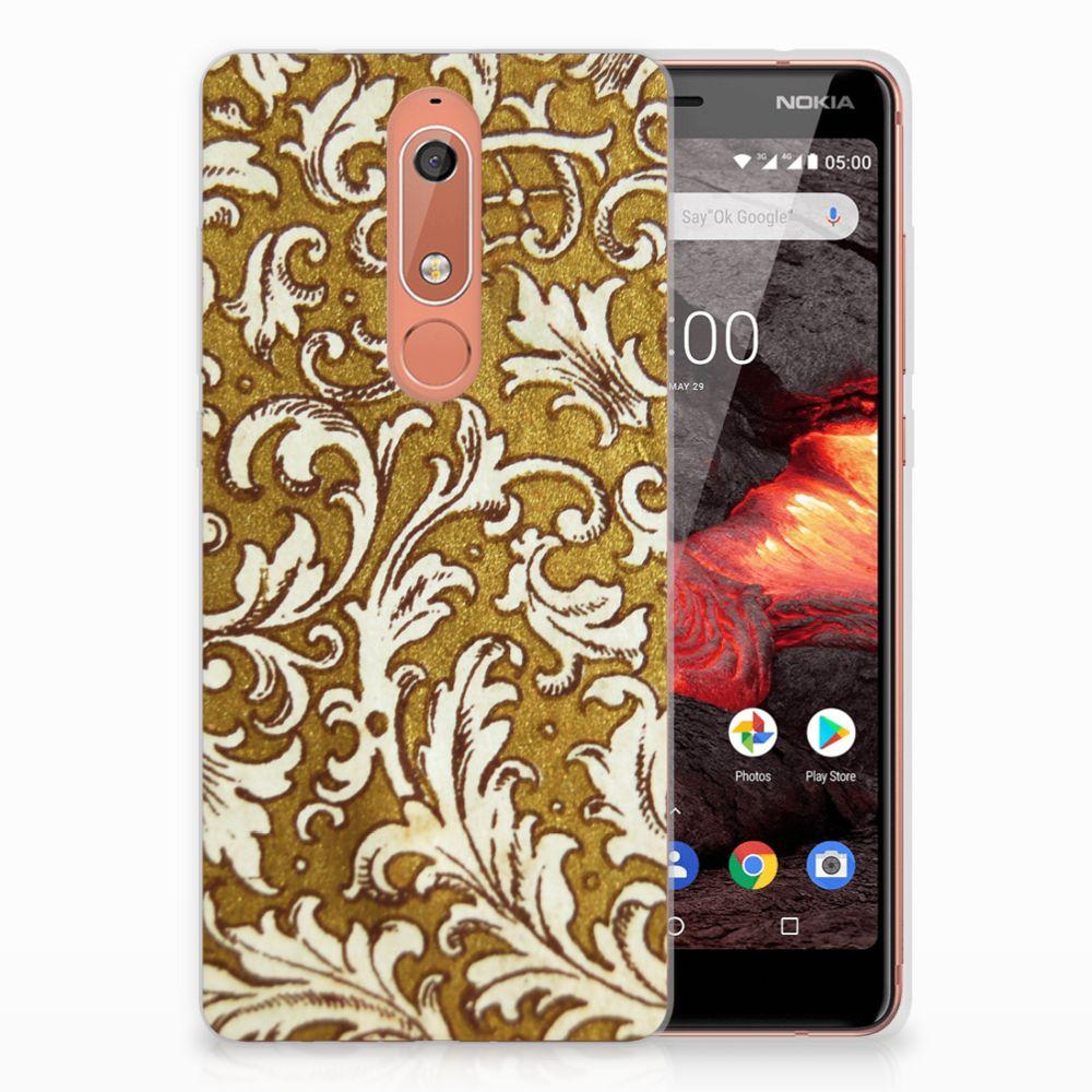 Siliconen Hoesje Nokia 5.1 (2018) Barok Goud