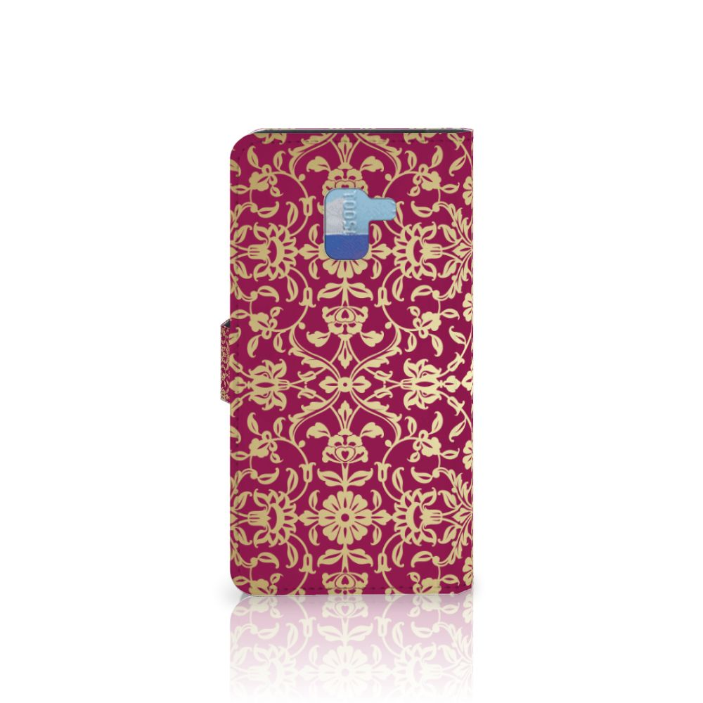 Wallet Case Samsung Galaxy A8 Plus (2018) Barok Pink