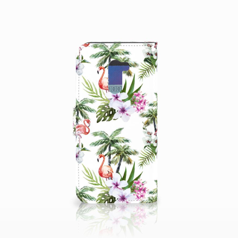 Xiaomi Pocophone F1 Telefoonhoesje met Pasjes Flamingo Palms