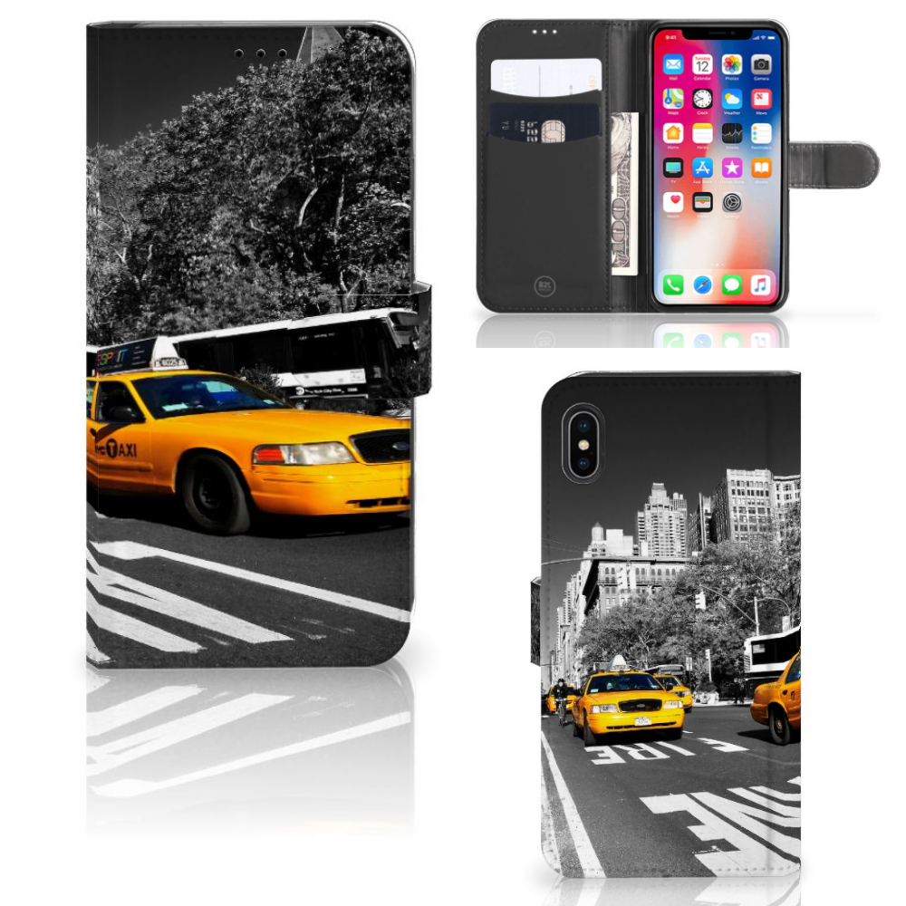 Apple iPhone Xs Max Flip Cover New York Taxi