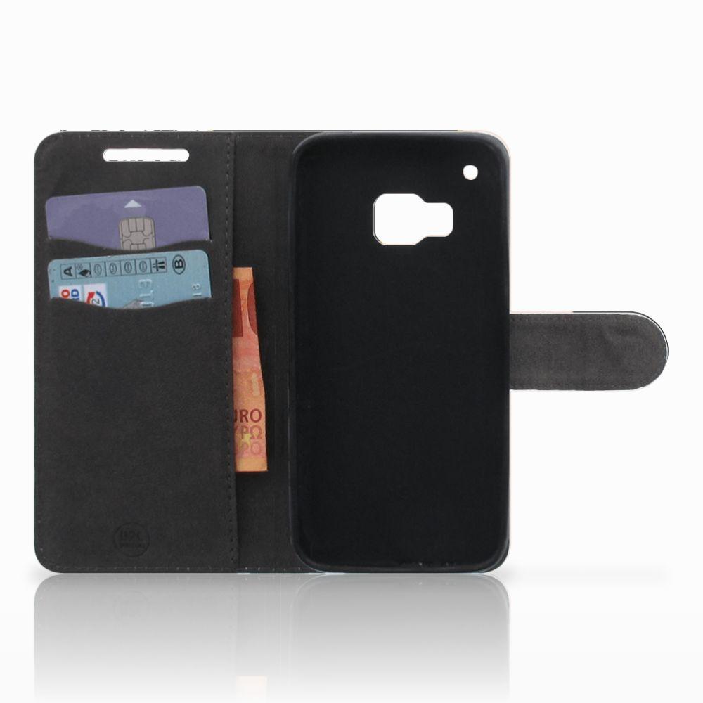HTC One M9 Uniek Boekhoesje Black Pink Shapes