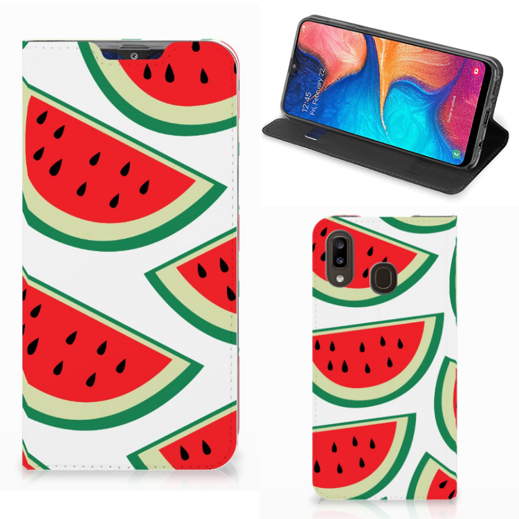Samsung Galaxy A30 Flip Style Cover Watermelons