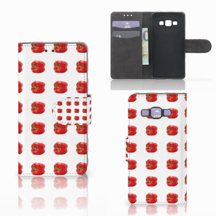 Samsung Galaxy A3 2015 Book Cover Paprika Red