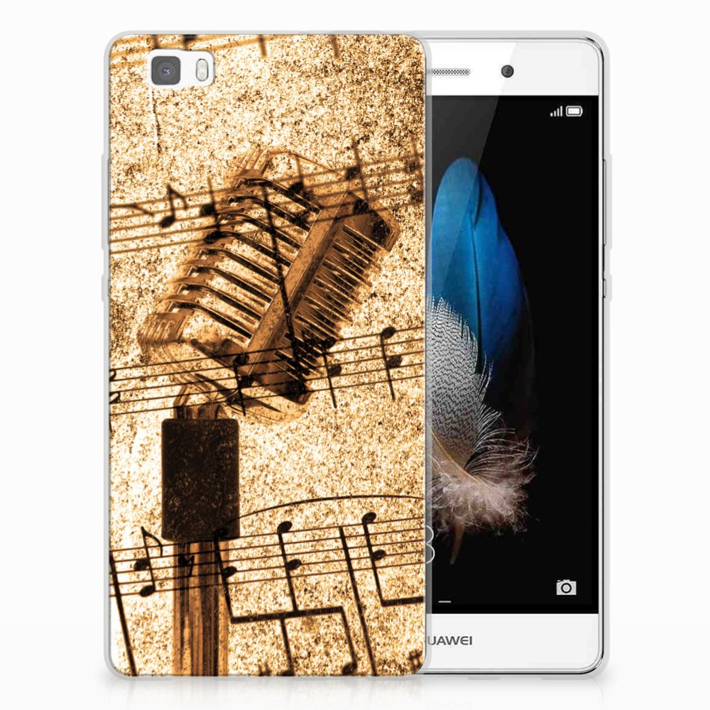 Huawei Ascend P8 Lite Uniek TPU Hoesje Bladmuziek